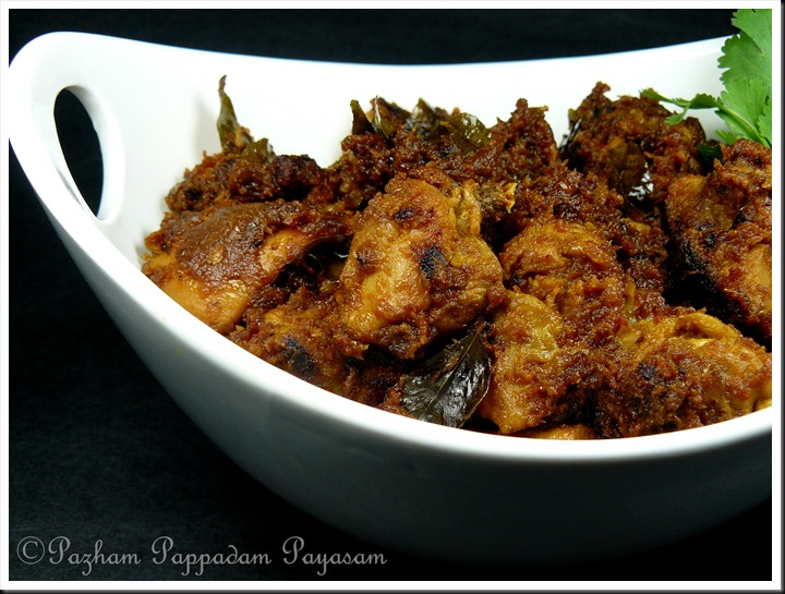 Kerala Chicken roast (Serves 4) by Pazham Pappadam Payasam
